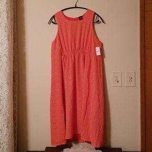 GAP Maternity orange & white sleeveless dress